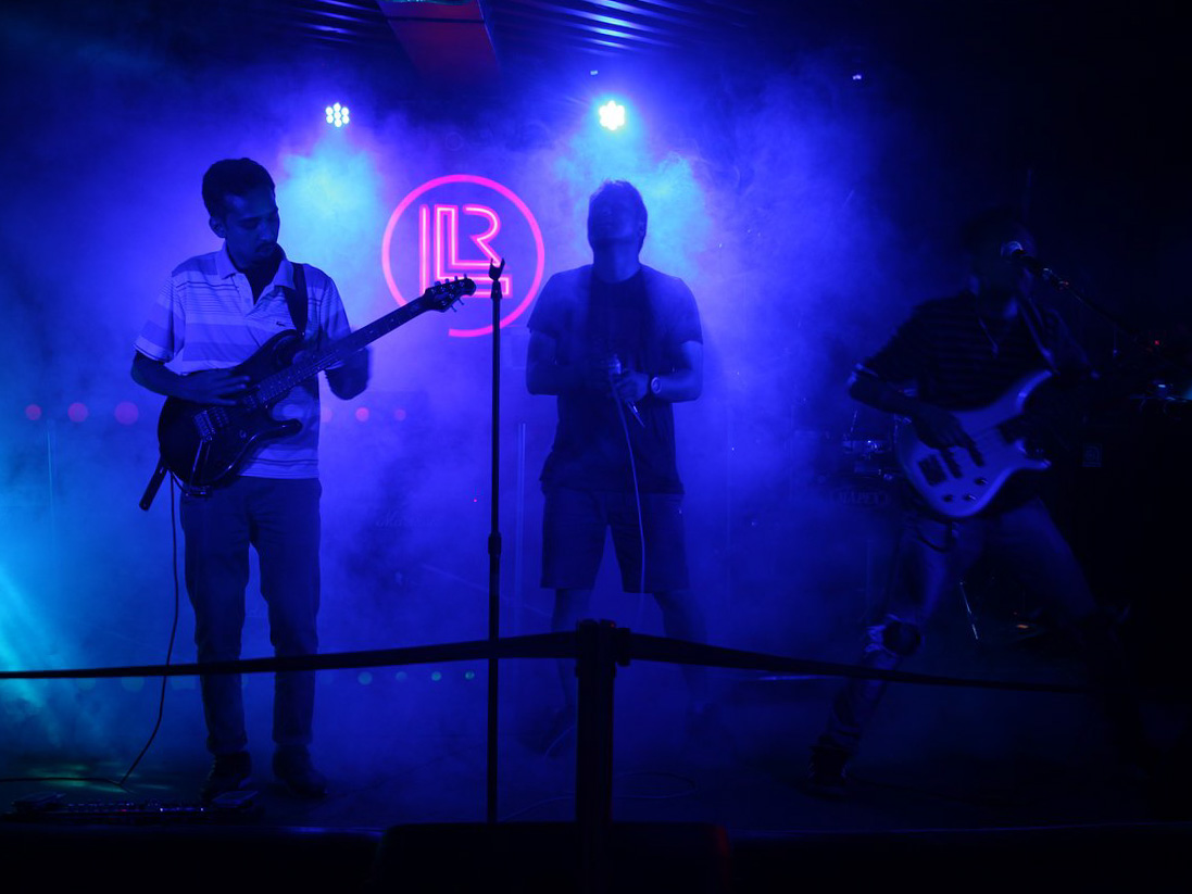 Live music at Cafe Live and Loud, Gangtok
