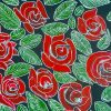 A painting of red roses by Sanchari